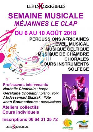 Affiche semaine musicale