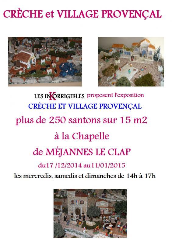 Creche et village provencal 1
