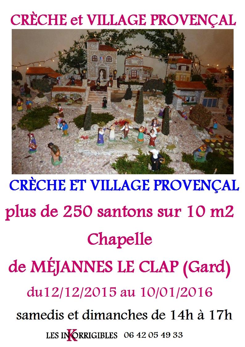 Creche et village provencal