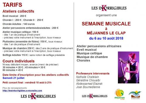 Flyer semaine musicale